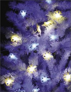 новогодняя гирлянда, LED-гирлянда, Снежинки