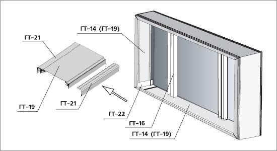 профиль для световых коробов, алюминиевый профиль