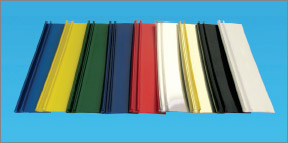 F-образный профиль (F-TRIM), Элькамет (Elkamet), обкладочный пластиковый профиль, для изготовления объемных букв