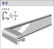 алюминиевый багетный профиль, сечение № 2