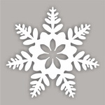 Не световые снежинки из ПВХ